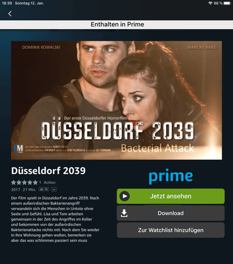 Amazon Prime - Düsseldorf 2039 Bacterial Attack